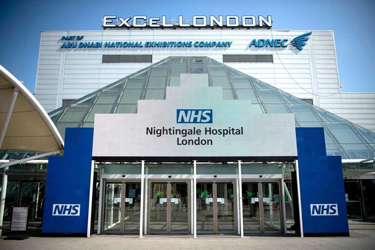 NHS Nightingale Hospital London - Emergency Vehicle Bay Marking